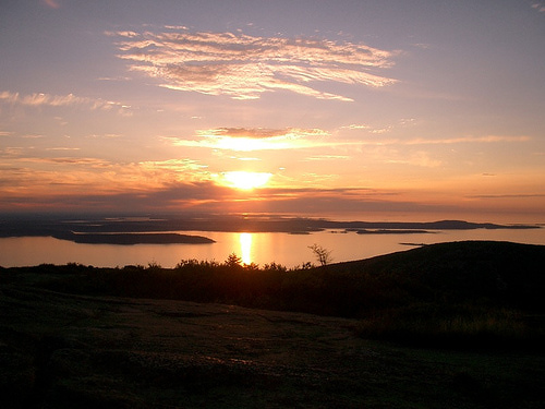 Sunrise from Cadillac Mountain.