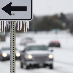 Winter storm brings 'once in decade' ice, snow to US South