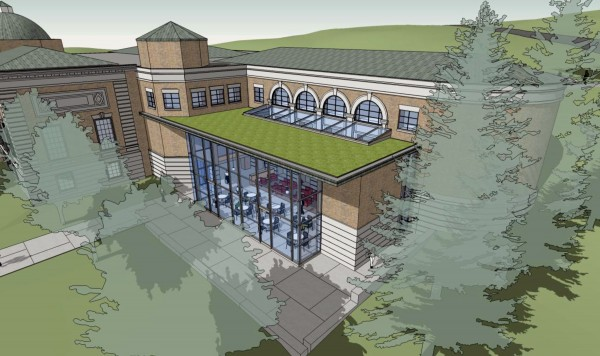 With a $3 million fund-raising effort nearing completion, Bangor Public Library will undergo major renovations starting in late spring 2014. The renovations will include the addition of a two-story glass atrium to the library's newest wing; a &quotgreen&quot roof will top the atrium.