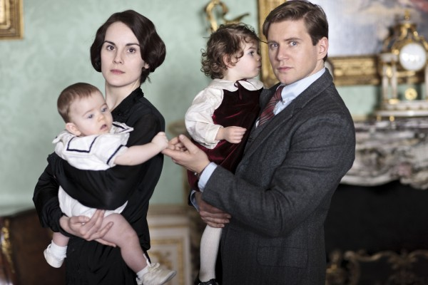 Michelle Dockery as Lady Mary and Allen Leech as Branson from &quotDownton Abbey: Season 4&quot to be broadcast January 5, 2014 on PBS.
