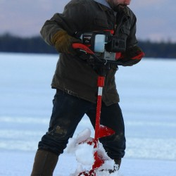 Late winter means family time for ice anglers