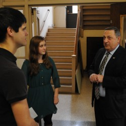 Domestic violence 'a very serious problem,' LePage tells students at Penobscot Job Corps