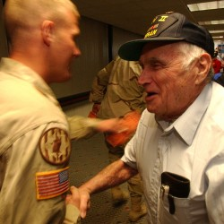 Bill Knight epitomized the Maine Troop Greeter