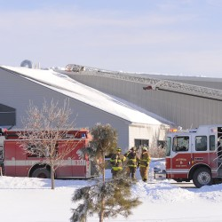 Fire crews knock down minor machine fire at Maine Commercial Tire in Hermon