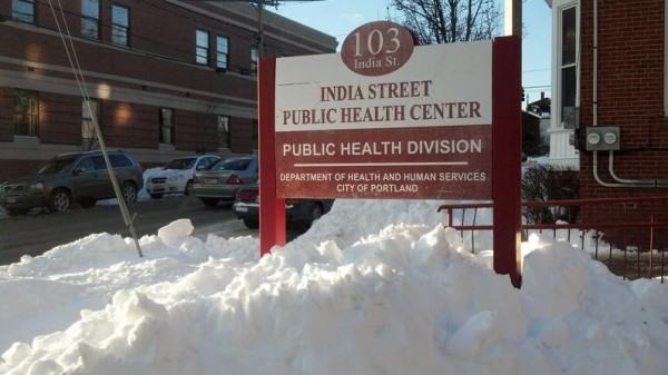 The Portland Community Free Clinic, housed in city offices at 103 India St., nearly closed last year. Now clinic officials estimate it can remain open for another six months.