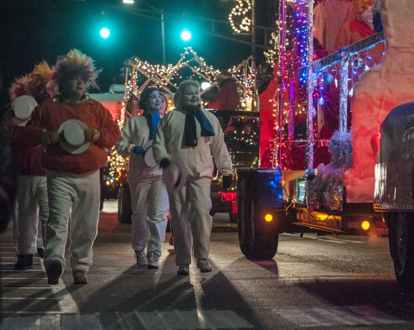 The Festival of Lights parade makes its way down Main Street in downtown Bangor, Saturday, Dec. 7, 2013.