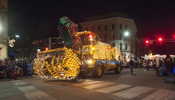 The Festival of Lights parade makes its way through downtown Bangor, Saturday, Dec. 7, 2013.