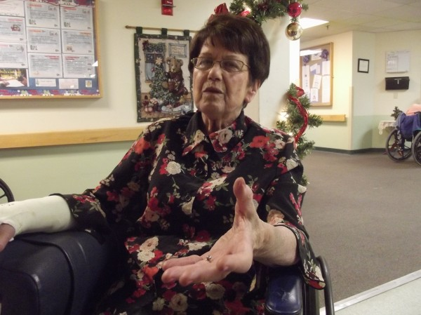 Alma Vane, 80, of Machias describes her experience related to the Japanese attack on Pearl Harbor on Dec. 7, 1941.