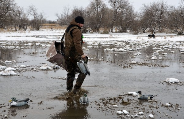 Waterfowl hunters put cold weather clothes to the test because they hunt in frigid temperatures and around water.