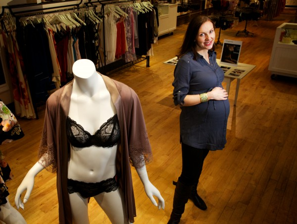 Andrea King, owner of Aristelle, a bra fitting and fine lingerie store in Portland, likes to use &quotreal-shaped&quot models in her advertising  — including her pregnant self and her mother.