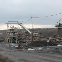 "This working ""cogeneration"" coal facility sits just outside Kulpmont, Pa."