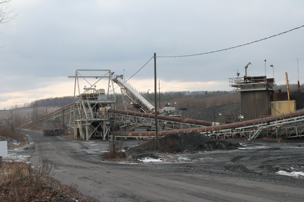 This working &quotcogeneration&quot coal facility sits just outside Kulpmont, Pa.