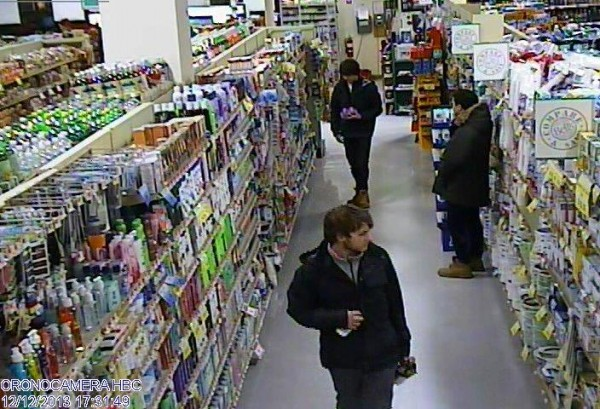 Surveillance images of males sought by Orono Police in connection with the theft of a bottle of liquor from Bell's IGA on Dec. 12.