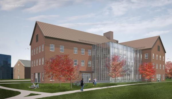 A Shepley Bulfinch illustration of the Davis Science Center at Colby College in Waterville, which will be completed in 2014.
