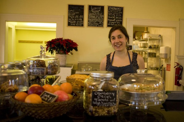 Chef and manager Amy Aloe uses natural, healthy ingredients from local providers at the Schoolhouse Cafe in Harpswell, which is now open to the public.