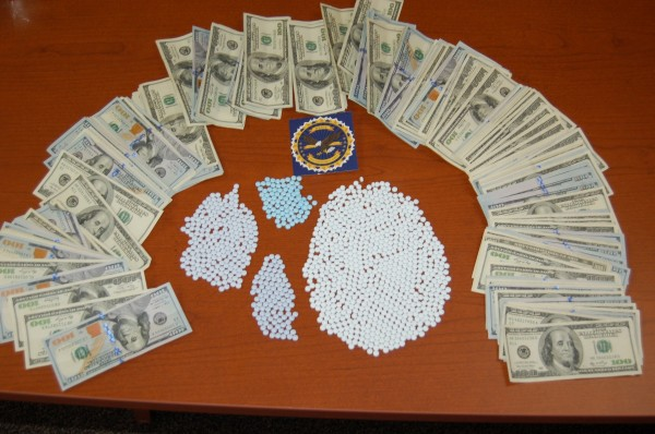 $40,000 worth of oxycodone and $35,000 reportedly was seized yesterday in Hancock County.