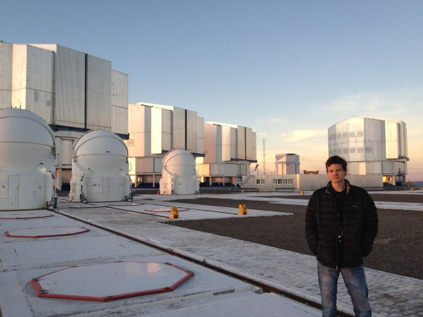 Astrophysicist — and Brunswick High School graduate — Grant Tremblay stands outside the European Southern Observatory in Chile''s Atacama Desert, where he works on the Very Large Telescope.