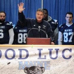 Cosgrove, Abbott discuss UMaine's football future; coach's contract extension still on hold