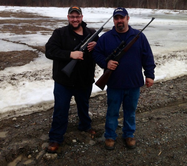 Hunting buddies Ryan Stevens (left) and Travis Hafford, who were the focus of a weekend search involving the Maine Warden Service and dozens of volunteers.