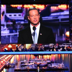 Maryland Governor Martin O'Malley speaks to the delegates at the 2012 Democratic National Convention at the Time Warner Cable Arena in Charlotte, North Carolina, Tuesday, September 4, 2012.
