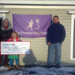 BBBS receives $5,000 grant check from Bank of America.