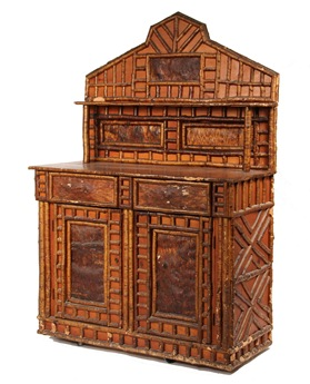Circa 1890 Adirondack bark and twig sideboard that sold for $6,325