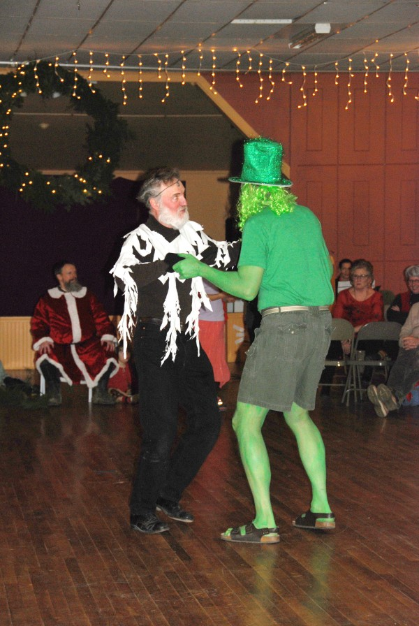 Scene from the high-spirited Mummers Play at the 2012 Winter Solstice Celebration. (Photo by Liz Fitzsimmons)
