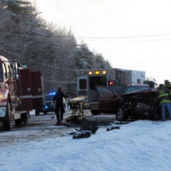 Two killed in three-car crash on Route 2 in Wilton