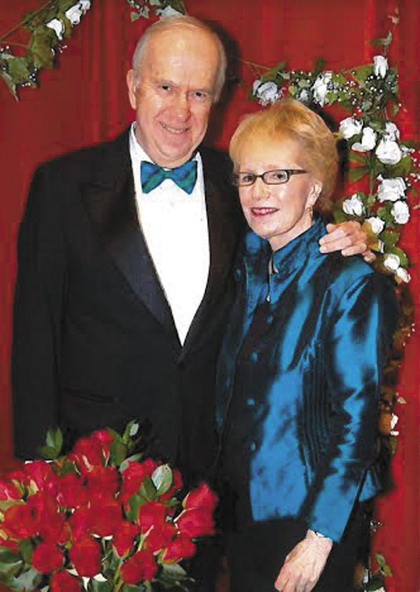 Thomas Brown of Eaton Peabody, who received a heart transplant in 1989, will serve as chairman of the 2014 Heart Ball and will be honored with the Distinguished Service Honoree award.  He is pictured here with his wife, Gail.