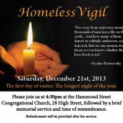 Longest Night Homeless Vigil