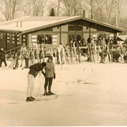The Base Lodge at Squaw Mountain Ski Area in 1966. Photo courtesy of the Moosehead Historical Society.