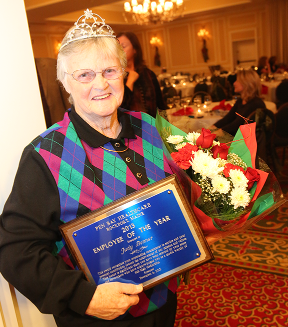 Judy Benner, Lead Support Partner, Special Care Unit, is Pen Bay Healthcare's 2013 Employee of the Year.