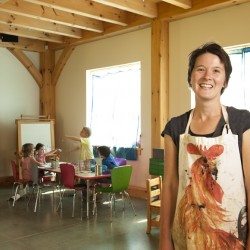 Lindsay Pinchbeck in her Sweet Tree art center.