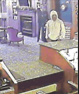 Police are looking for this man responsible for robbing a Hampden hotel at knifepoint Friday morning.