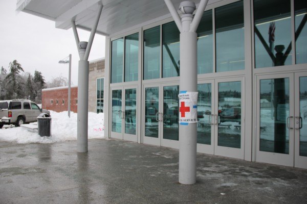 A Red Cross shelter has been set up in the Ellsworth Elementary-Middle School for anyone who has lost power or heat as a result of the ice storm. The shelter has hosted as many as 21 people during the last two days. Many residents have stopped by just to take a shower or charge phones, while others have been spending the night.
