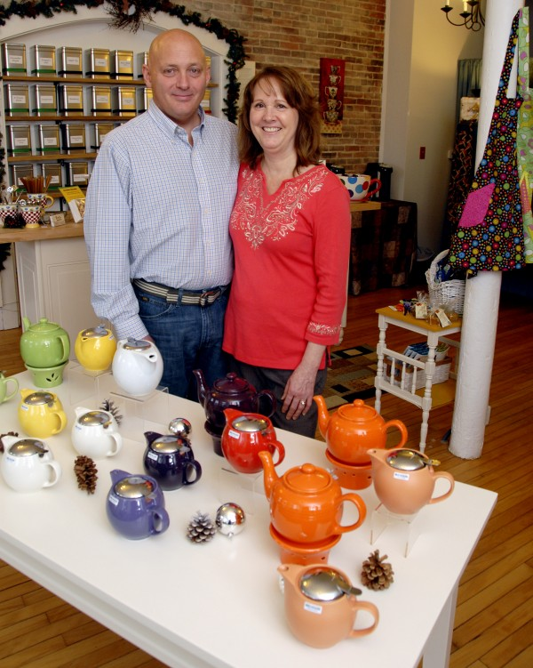 Dan and Debbie Holmes opened Tea Maineia at 115 Main St., Winterport, on Oct. 19. The shop carries more than 50 loose-leaf tea blends and products sought by tea drinkers, from tea pots and mugs to tea aprons and books.