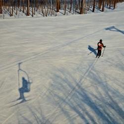 &quotSelf Portrait with Ski Patrol&quot, oil/panel, 17&quot x 22&quot, 2009