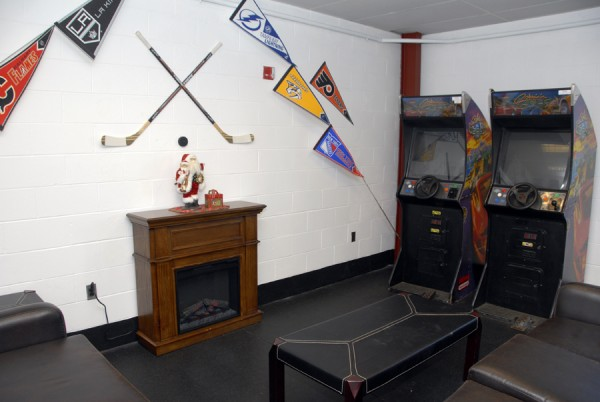 The BDN Maine Warming Room at the Penobscot Ice Arena has been remodeled to offer a relaxing atmosphere for fans attending skating events at the 90 Acme Road facility.