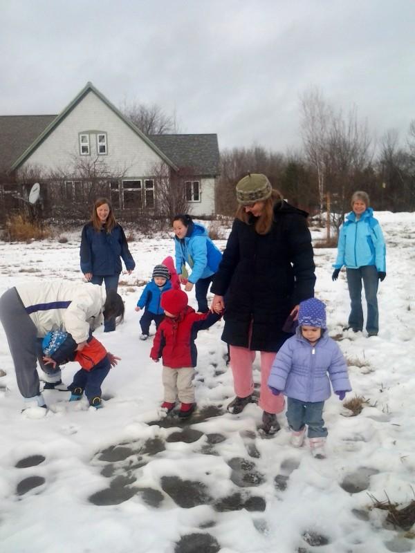 Enjoying the snow at FPAC!