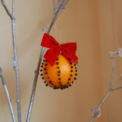 Orange and clove pomander.