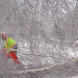 Utility crews fight losing battle against ice