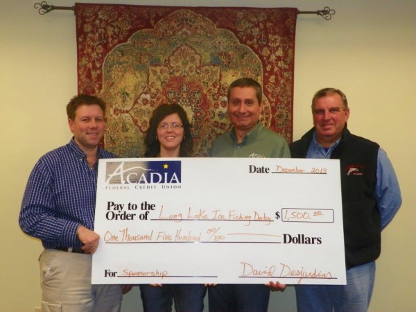 Acadia Federal Credit Union Sponsors Maine's Largest Cash Prize Fishing Derby