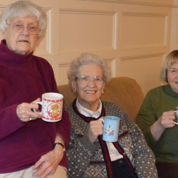Quarry Hill residents Eleanor McClelland, Ruth Cole, and Hannah Williamson (pictured, from left)