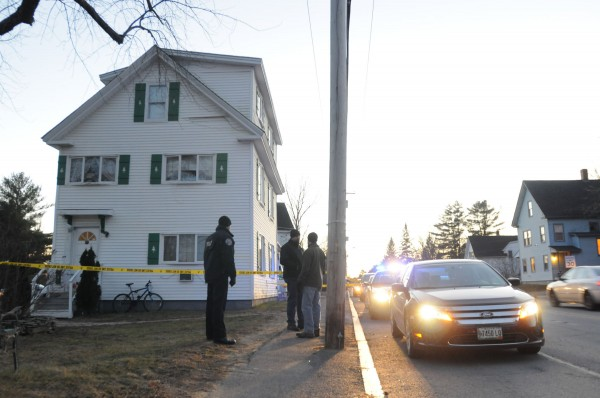 Orono police investigate at the scene of a stabbing at 87 Park St. in Orono on Sunday evening.