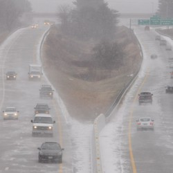 East Coast storm brings slippery, icy mess