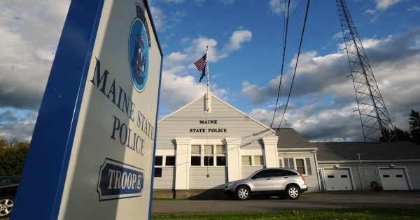 The Maine State Police Troop E building in Orono.