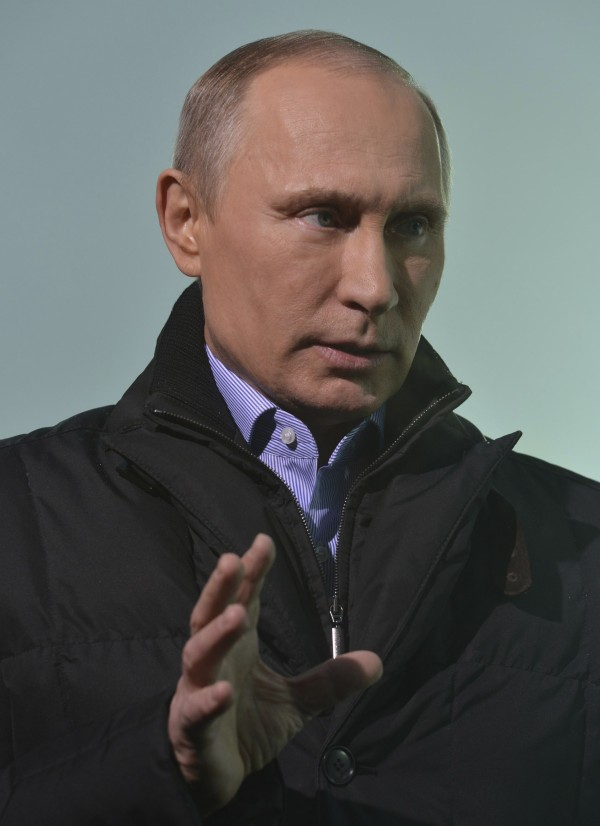 Russia's President Vladimir Putin speaks during an interview with Andrew Marr (not pictured) in Sochi, in this BBC handout  taken January 17, 2014.