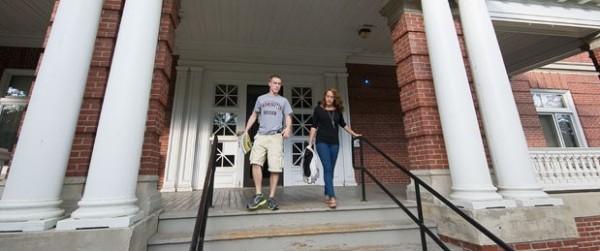 Students at the University of Maine at Farmington.