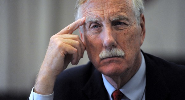 U.S. Senator Angus King in Bangor on Friday October 23rd 2013.