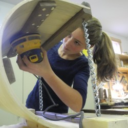 Students build toboggans during weekend workshop in Rockland